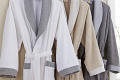 Bathrobe-Shawl-Collor-Terry-Different-Colors-Single-Pile