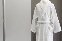 Bathrobe-shawl-collar-Terry-White-Single-pile