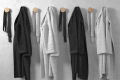 Bathrobe-showlcollar-Honeycombed-Single-Pile