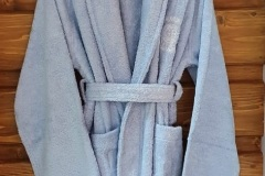 Blue-Shawl-Collar-bathrobe-Embroidery